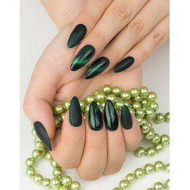 634 Semilac Cat Eye 3D Green
