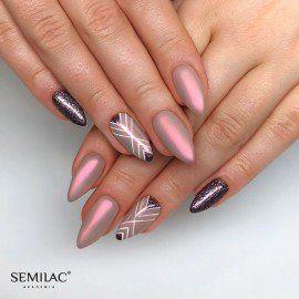 257 Semilac Gel Polish Platinum Rose Brown 7ml