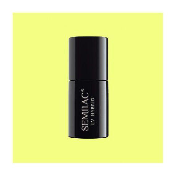 182 UV Hybrid - gel polish - shellac - Semilac Strong Lime 7ml