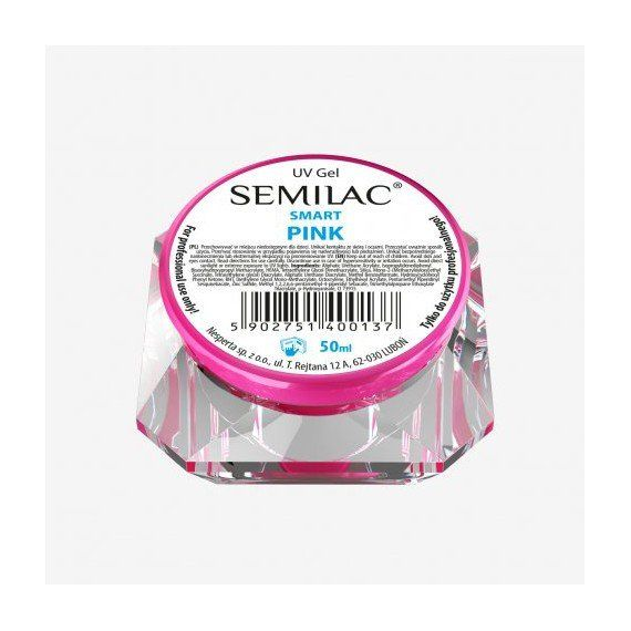 SEMILAC UV GEL SMART PINK 50 ML