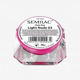03 SEMILAC UV GEL ONLY ONE LIGHT NUDE 50 ML