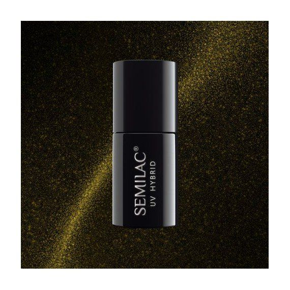 Semilac Ireland 612 Gel Polish Cat Eye Gold