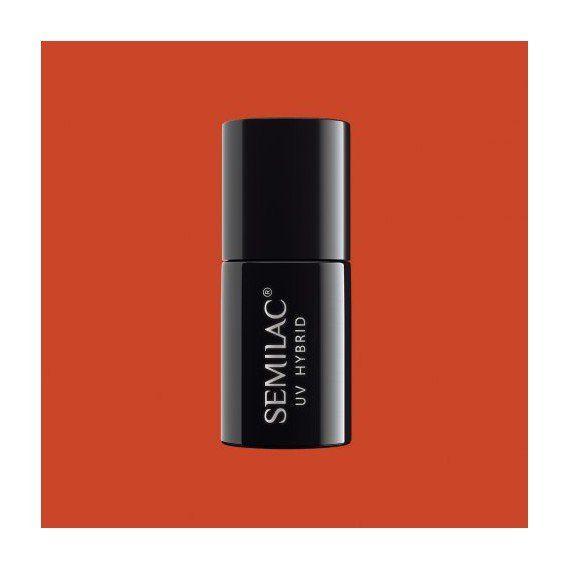 519 UV Hybrid Semilac SemiBeats by Margaret Full Orange 7ml