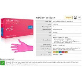 Nitrylex® Collagen Gloves - Magenta ( XS, S, M, L )