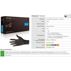 Nitrylex® Gloves - BLACK ( XS, S, M, L )