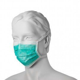 High Quality HYGENICAL Face mask Green- 2ply - 50pcs