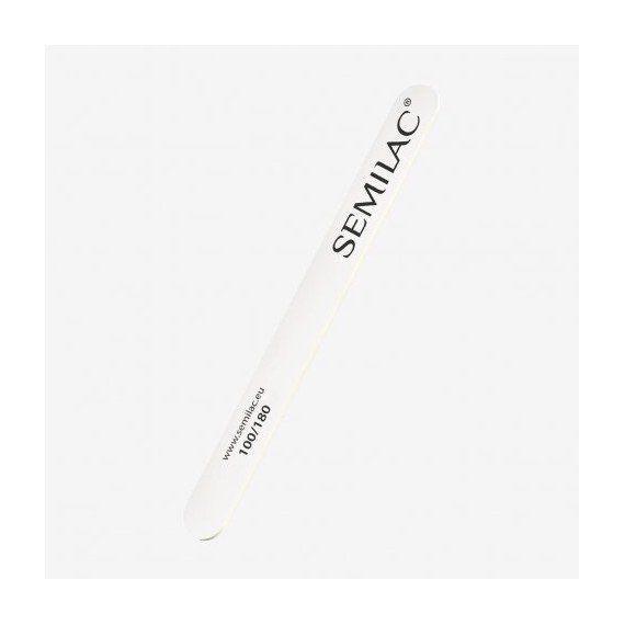 Wooden nail file 100/180 white Semilac Quality