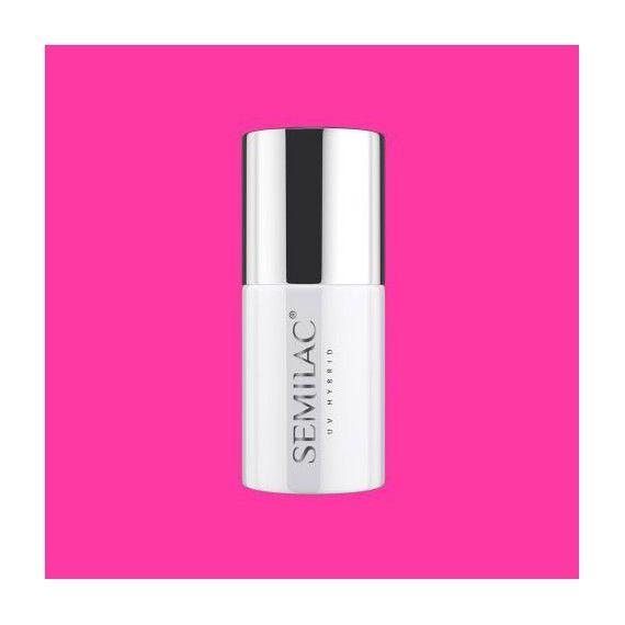 555 Semilac Gel Polish - PINK BANG from Semilac Ireland - Super cover Pink nails - Perfect neon pink shade
