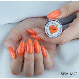 554 Semilac Gel Polish - LOUD MANDARINE
