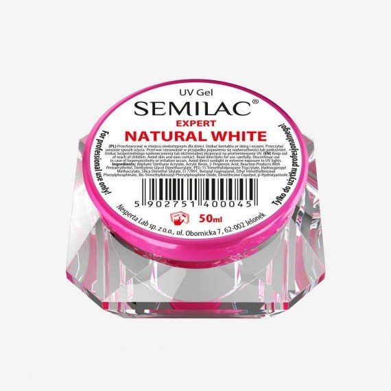 SEMILAC UV GEL EXPERT NATURAL WHITE 50ML