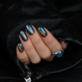 310 Semilac Gel Polish MAGIC CAT EYE BLUE