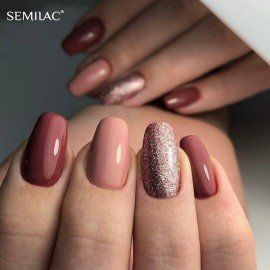 005 Semilac Gel Polish - Berry Nude 7ml