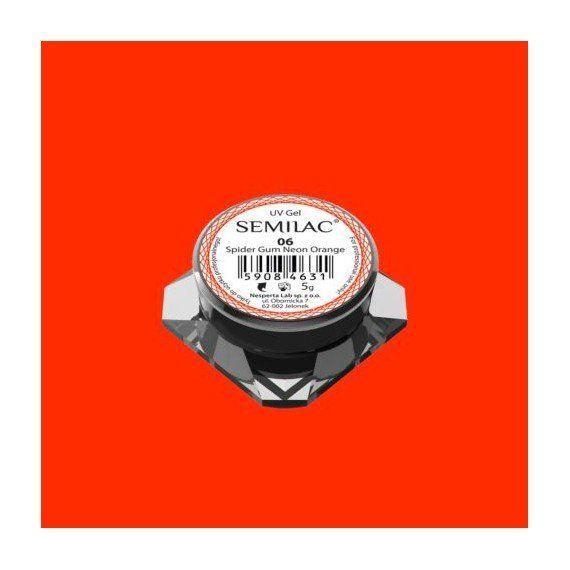 Semilac Nail Art Spider Gum 06 NEON ORANGE