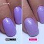 Nails with Semilac Diamond Top Coat