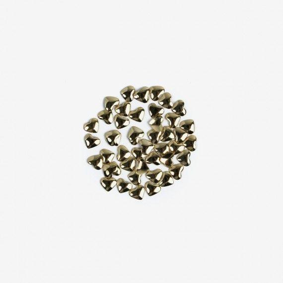 758 Semilac Nail Decoration Gold Hearts (50pcs)
