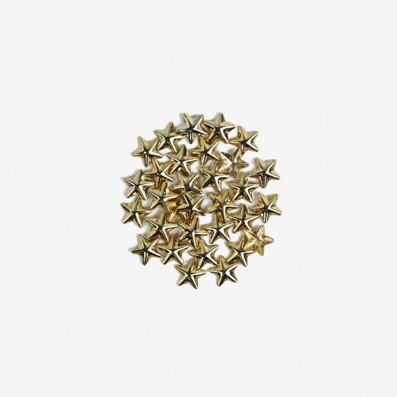760 Semilac Nail Decoration Big Gold Stars (50pcs)