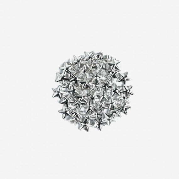 761 Semilac Nail Decoration Big Silver Stars (50pcs)