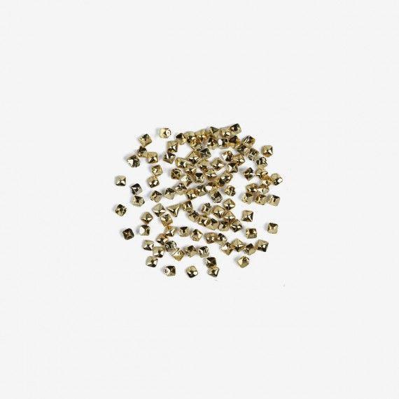 762 Semilac Nail Decoration Small Gold Square (100pcs)
