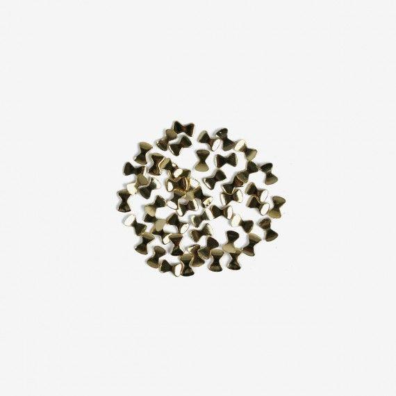 770 Semilac Nail Decoration Gold Bows (50pcs)