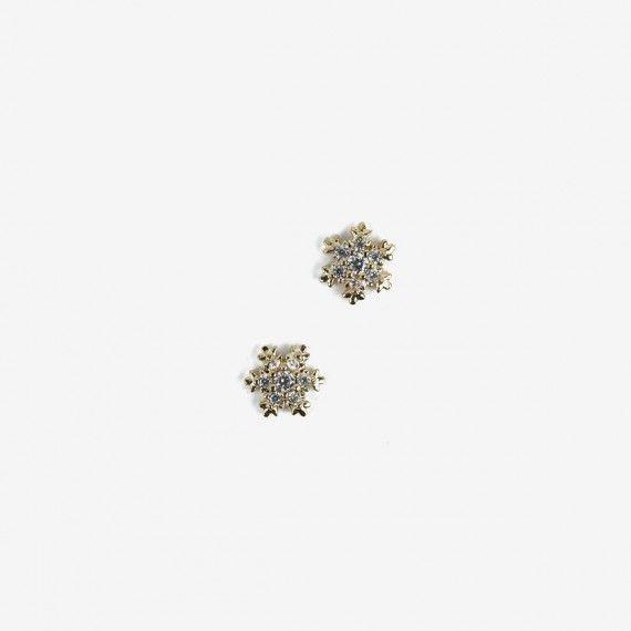 778 Semilac Nail Decoration Gold Snowflakes (2pcs)