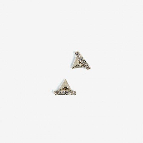 782 Semilac Nail Decoration Gold Pyramids (2pcs)