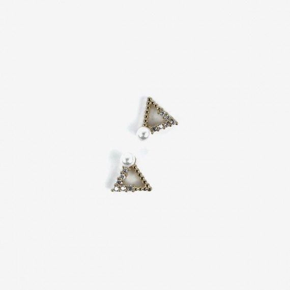 784 Semilac Nail Decoration Gold Triangles (2pcs)