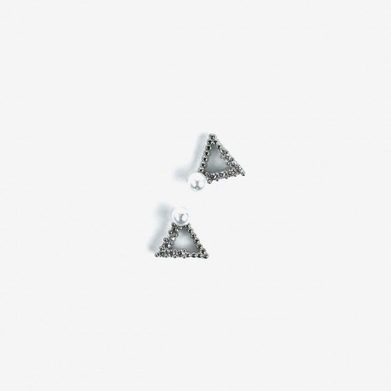 785 Semilac Nail Decoration Silver Triangles (2pcs)