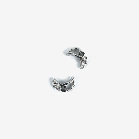791 Semilac nail Decoration Silver Wings (2pcs)