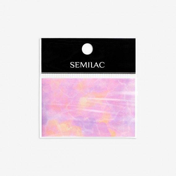 11 Semilac Nail Art Transfer Foil - PINK MARBLE
