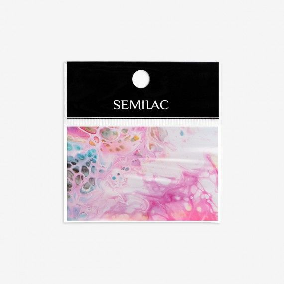 08 Semilac Nail transfer foil - RAINBOW MARBLE
