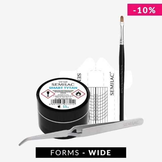 Nail Extension Kit for Gel Nails with Wide form