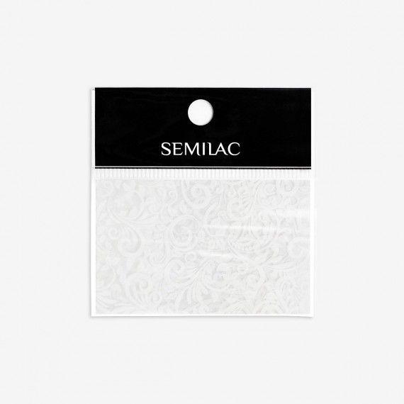 13 Semilac White Lace Transfer foil