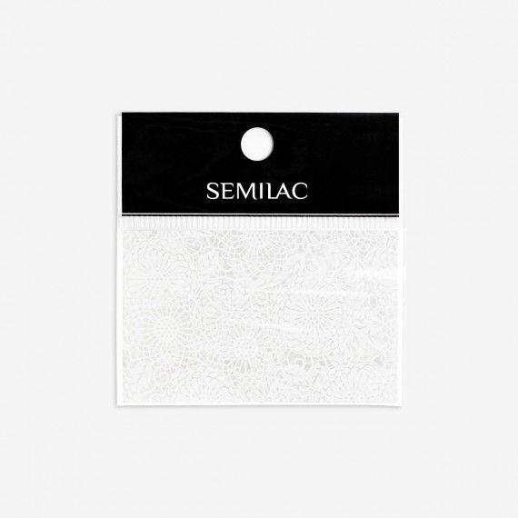 14 Semilac White Lace Transfer foil