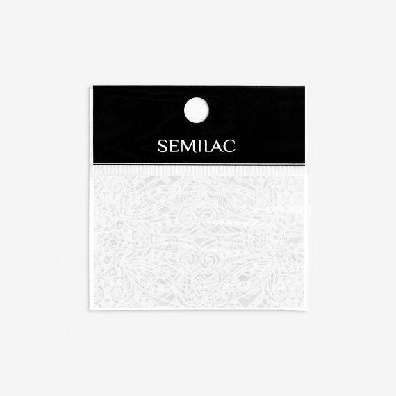 15 Semilac White Lace Transfer foil