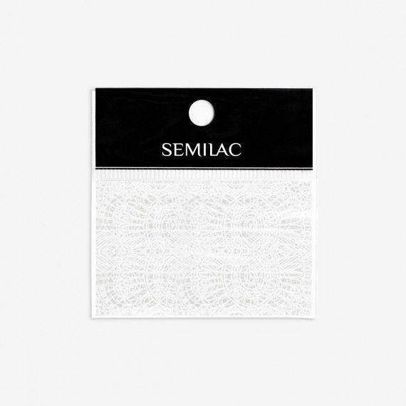 16 Semilac White Lace Transfer foil