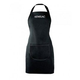 Balack Apron with white logo Semilac