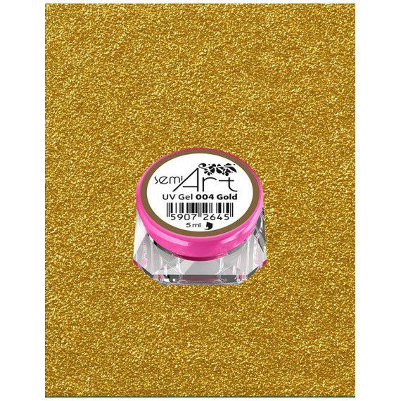 Semi Art UV Gel 004 Gold - semilc.ie