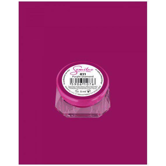 011 UV Gel Color Semilac Purple Diamond 5ml