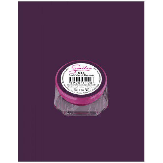 014 UV Gel Color Semilac Dark Violet Dreams 5ml
