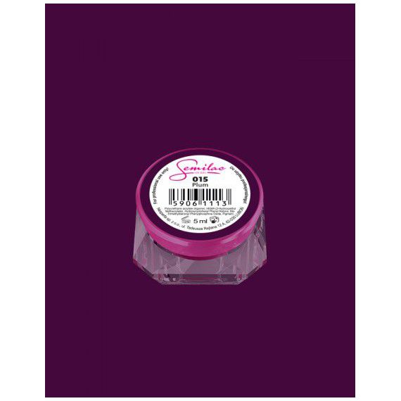 015 UV Gel Color Semilac Plum 5ml