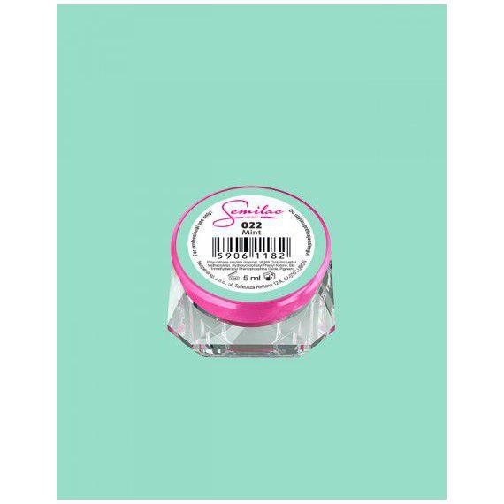 022 UV Gel Color Semilac Mint 5ml