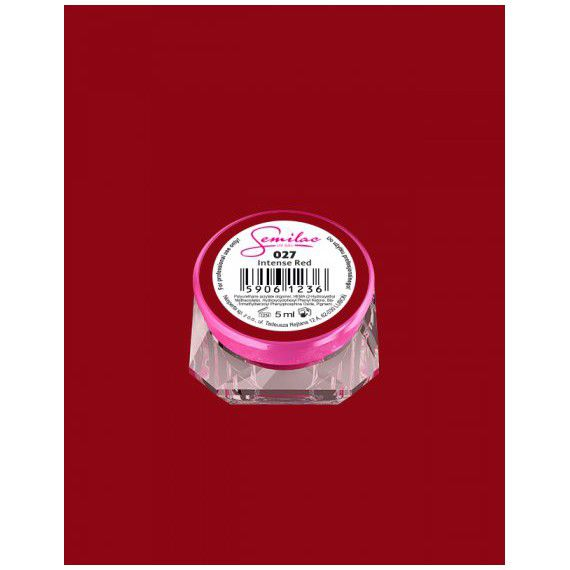 027 UV Gel Color Semilac Intense Red 5ml