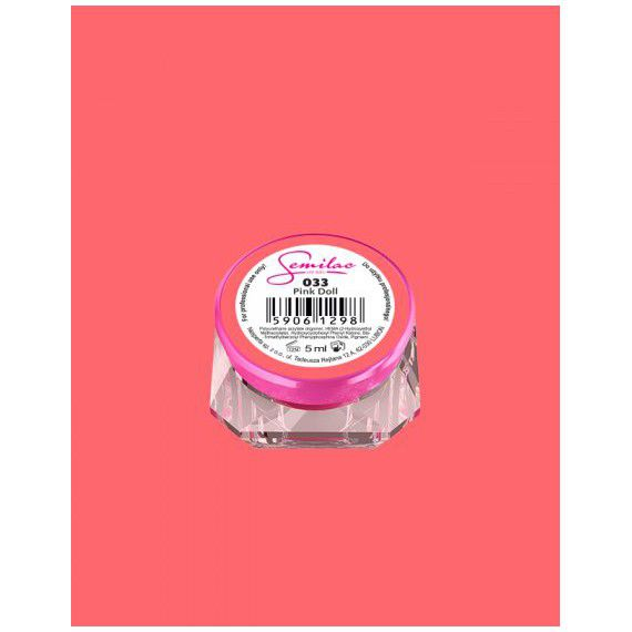 033 UV Gel Color Semilac Pink Doll 5ml