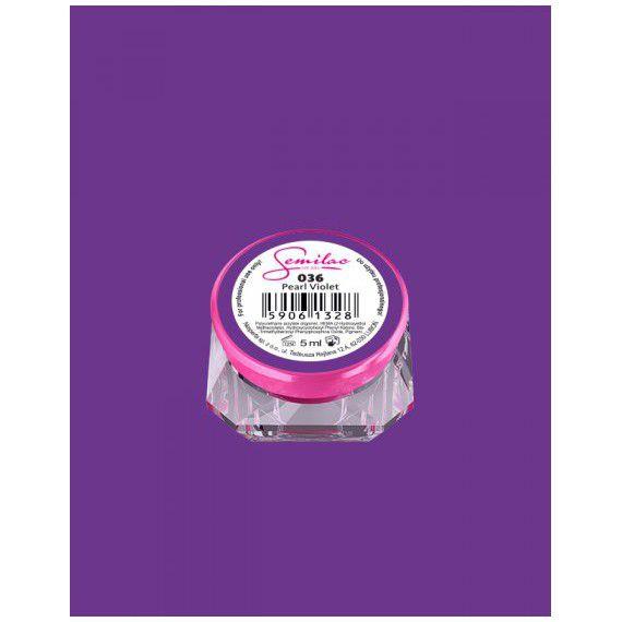 036 UV Gel Color Semilac Pearl Violet 5ml