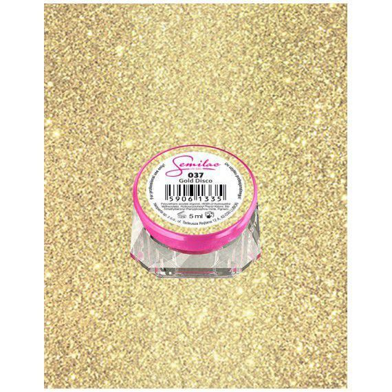 037 UV Gel Color Semilac Gold Disco 5ml