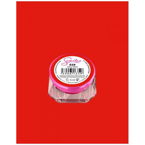 039 UV Gel Color Semilac Sexy Red 5ml
