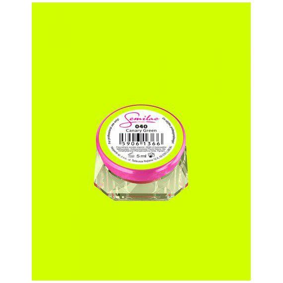 040 UV Gel Color Semilac Canary Green 5ml