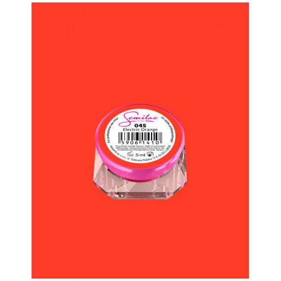 045 UV Gel Color Semilac Electric Orange 5ml