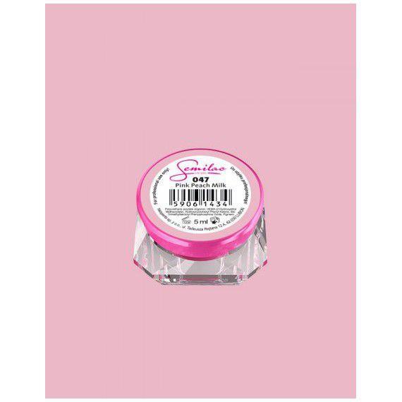 047 UV Gel Color Semilac Pink Peach Milk 5ml