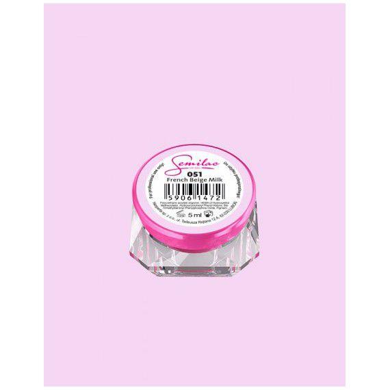 051 UV Gel Color Semilac French Beige Milk 5ml